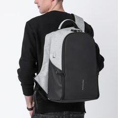 Рюкзак антивор для ноутбука 15,6 KAKA 806 чёрно-серый