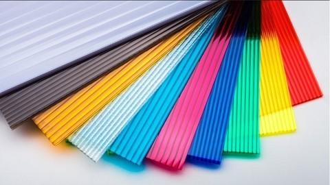СПК (сотовый поликарбонат) 6 мм. цветной.