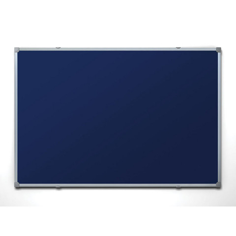 Доска текстильная Attache 90х120 см цвет покрытия синий алюминиевая рама