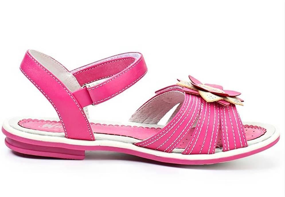 Босоножки Винкс (Winx) на липучках с открытым носком и пяткой для девочек, цвет розовый