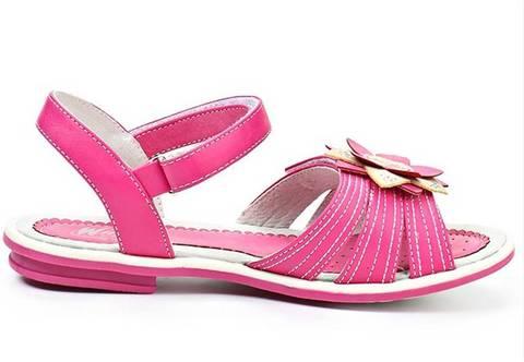 Босоножки Винкс (Winx) на липучках с открытым носком и пяткой для девочек, цвет розовый. Изображение 6 из 8.