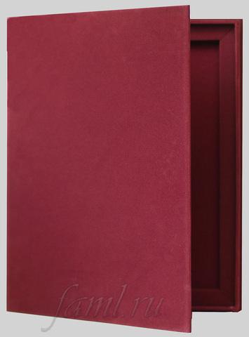 Подарочная бархатная коробка для фамильного диплома А4