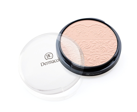 Dermacol Compact Powder With Lace Relief Компактная пудра с изысканным декоративным рельефом, 8гр