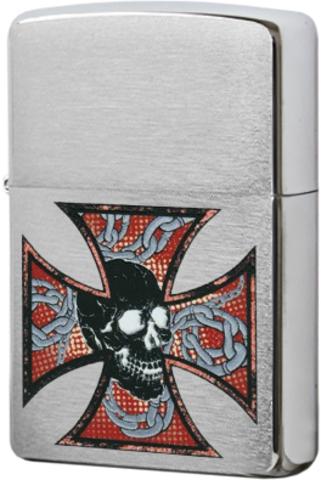 Зажигалка Zippo Skull&Cross