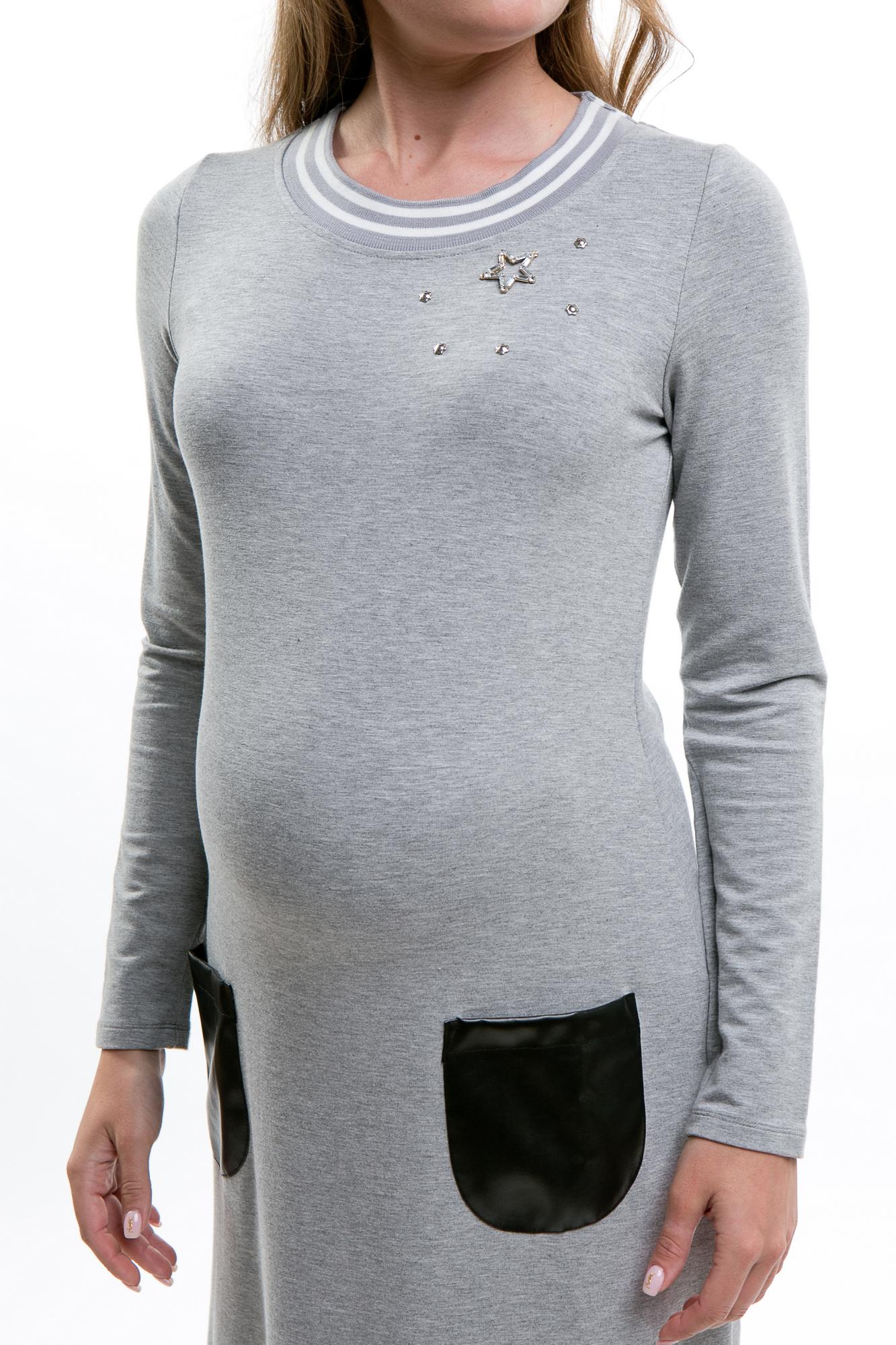 Платье для беременных 09166 серый
