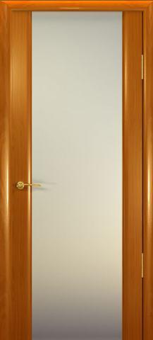 Дверь Шторм-3 стекло белое (анегри, остекленная шпонированная), фабрика Океан
