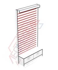 Сп-4 Стеновая панель,накопитель с ящиками (витрина) 2416х1232х435 мм