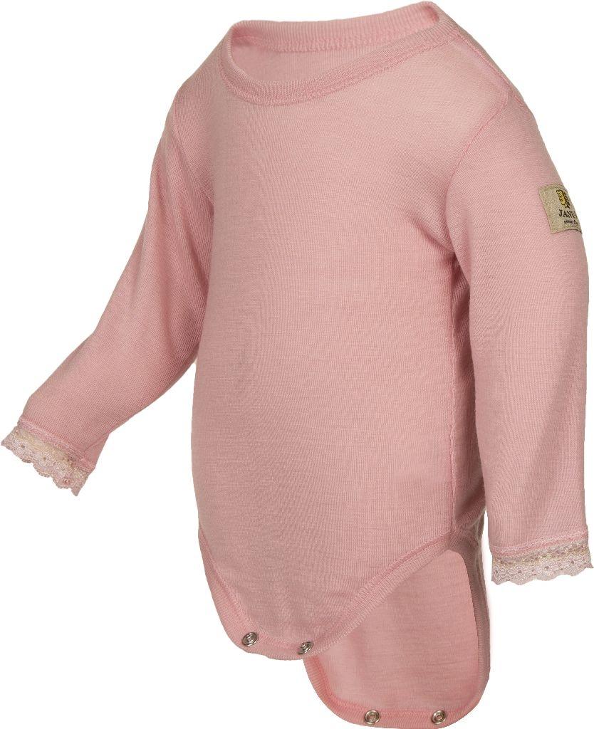 Janus, Боди с кружевом Baby wool, розовый