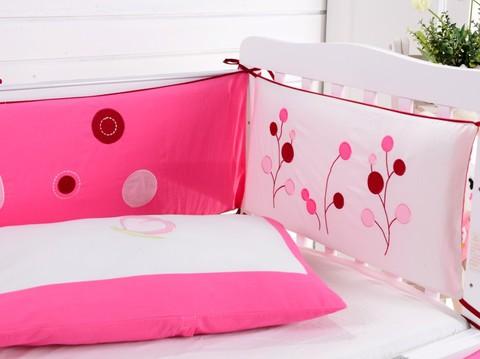 Комплект постельного белья  в кроватку с бортиком ТМ Вальтери Россия DK-22