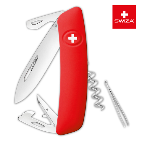 Уценка! Швейцарский нож SWIZA D03 Standard, 95 мм, 11 функций, красный