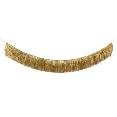 Резная гирлянда с бахромой, золотистая, металлик
