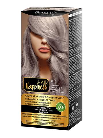 Белита-М Hair Happiness Крем-краска для волос аммиачная №9.1 пепельный блондин