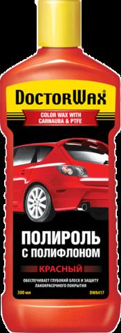 8417 Цветная полироль с полифлоном. Красная  RED / COLOR WAX WITH CARNAUBA & PTFE 300 мл, шт