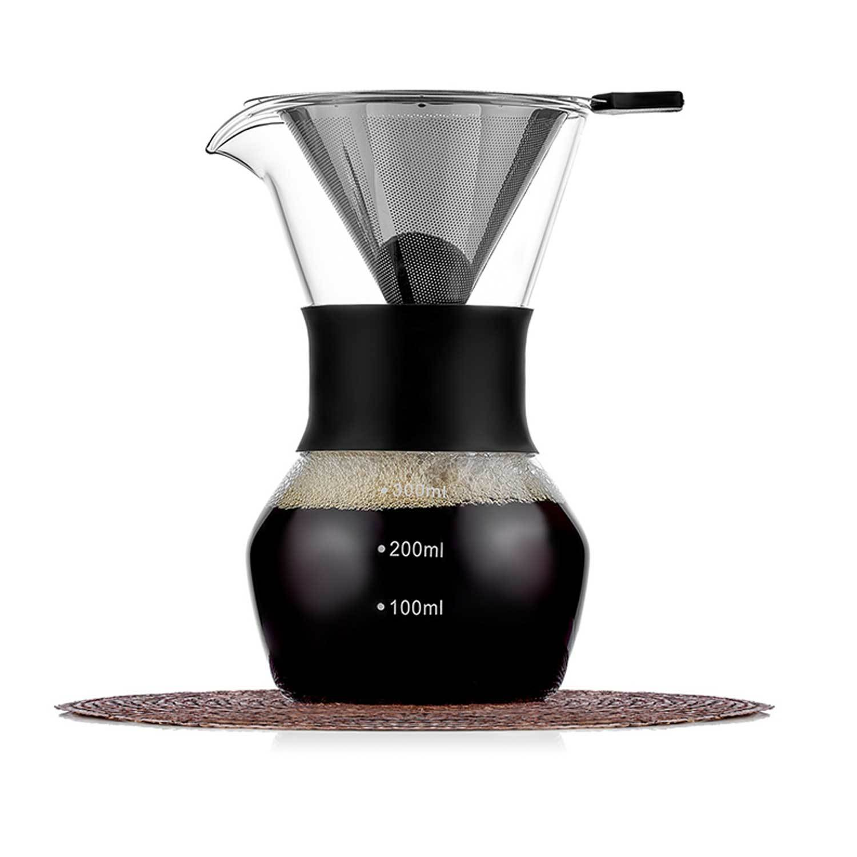 Кофеварки Кемекс (Chemex) Кофеварка Кемекс (Chemex) 300 мл, стеклянная с резиновой манжетой и многоразовым фильтром Chemex-Kemex-300ml-teastar.jpg
