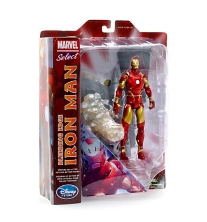 Марвел Селект фигурка Железный Человек Кровавая броня — Marvel Select Iron Man Bleeding Edge Exclusive