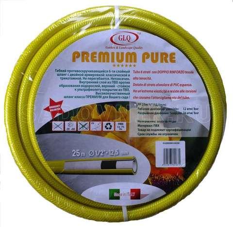 Шланг PREMIUM PURE 25м 1/2'' противоскр. пищевой с 2-мя видами армировки Р=12 Ваr (пожизн. гарантия)
