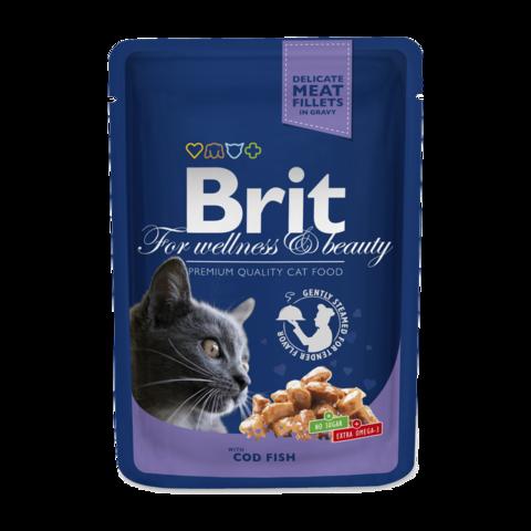 Brit Premium Cat Консервы для кошек с треской (пауч)