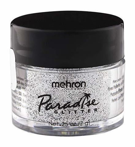 MEHRON Рассыпчатые блестки Paradise Glitter, Silver (Серебро), 7 г