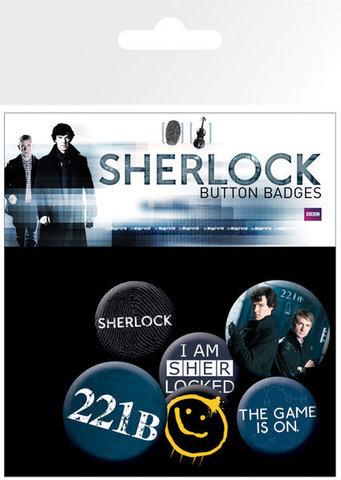 Набор значков «Шерлок»