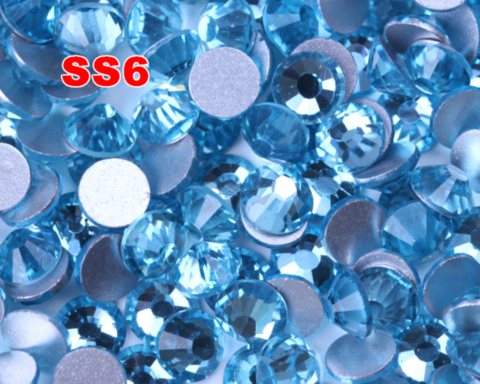 Стразы SS6 аквамарин 100 шт