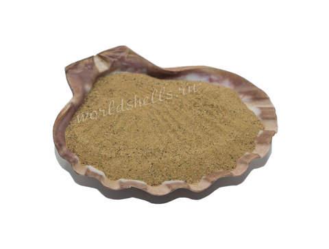 Песок натуральный тёмно-бежевый 1 кг.