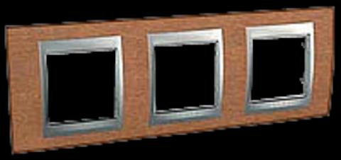 Рамка на 3 поста. Цвет Вишня. Schneider electric Unica Top. MGU66.006.0M2