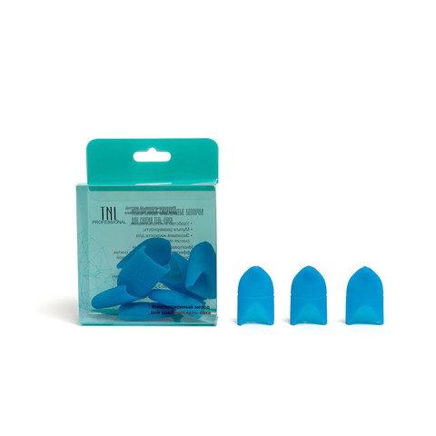 Силиконовые колпачки для снятия гель-лака (10 шт/упак) синие