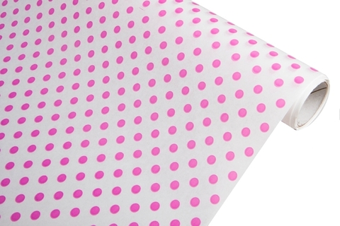 Бумага белая крафт 50гр/м2, 70см x 10м, Бисер, цвет:розовый