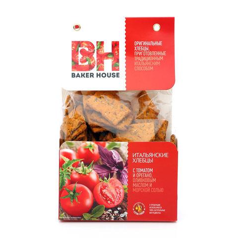"""Итальянские хлебцы """"Baker House"""" с томатом. орегано. ол. маслом и мор. солью 250 г"""