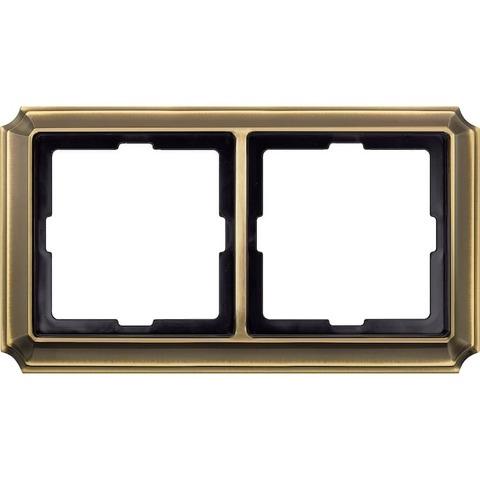 Рамка на 2 поста. Цвет Античная латунь. Merten. Antique System Design. MTN483243