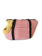Сумка-переноска для собак с меховой отделкой Клетка