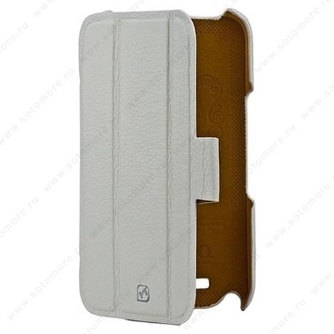 Чехол-книжка HOCO для Samsung Galaxy Note 2 N7100 - HOCO Real Leather case White