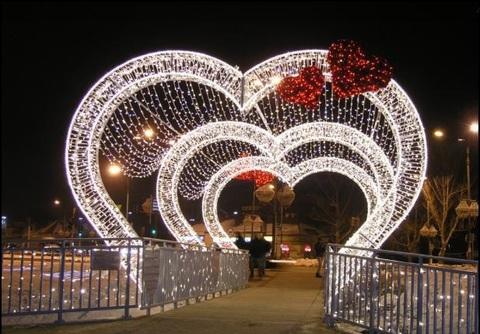 Световая фигура арка Сердце