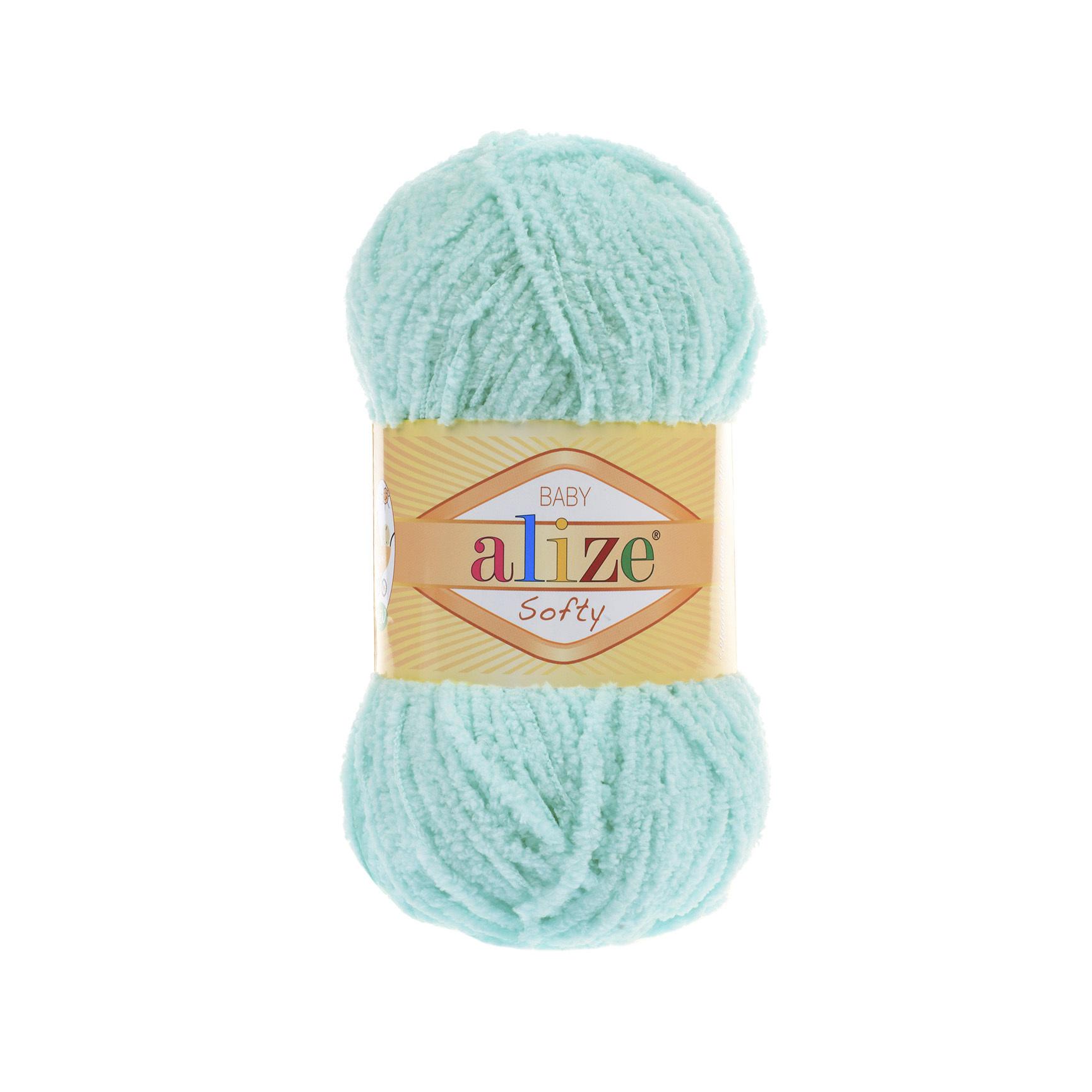 Пряжа Alize Softy мятный 669