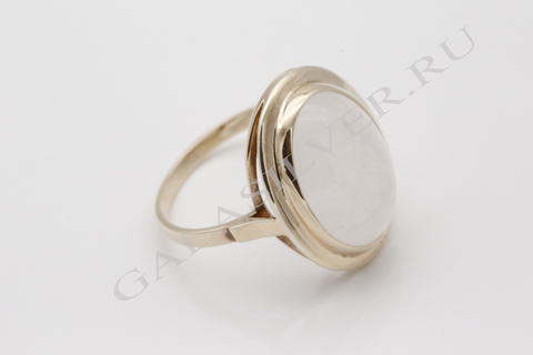 Кольцо с розовым кварцем из серебра 925