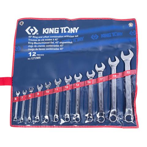KING TONY (1272MR) Набор комбинированных изогнутых ключей, 6-22 мм, 12 предметов