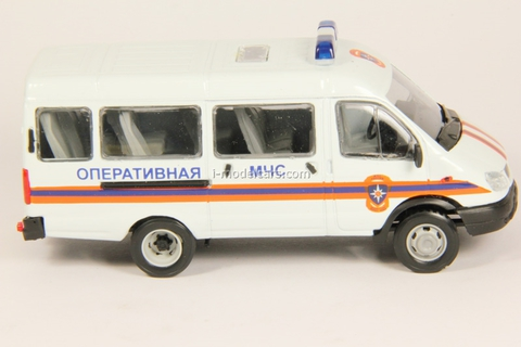 GAZ-3221 Gazelle Ministry of Emergency Situations restyling Agat Mossar Tantal 1:43