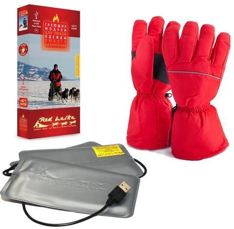 Комплект-подарок перчатки с подогревом RL-P-03 (AA) и Греющий комплект ЕСС ГК3 c USB разъёмом