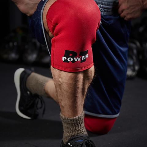 купить наколенники для пауэрлифтинга RT Power 2.0 Red неопрен 7 мм для пауэрлифтинга тяжелой атлетики