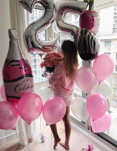 Сет шаров Девушке на день рождения