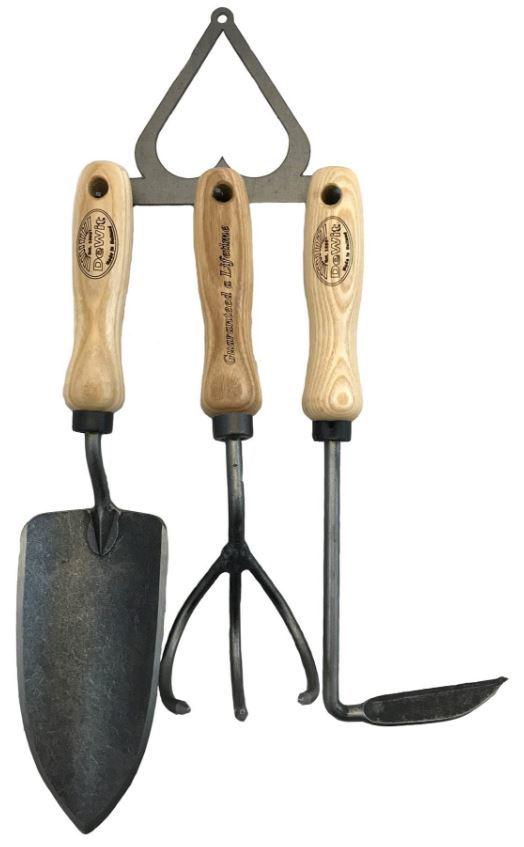 Набор садовых инструментов DeWit на стальном держателе
