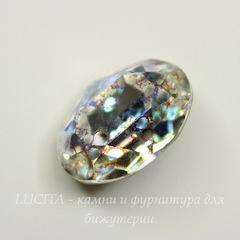 4120 Ювелирные стразы Сваровски Crystal White Patina (18х13 мм)