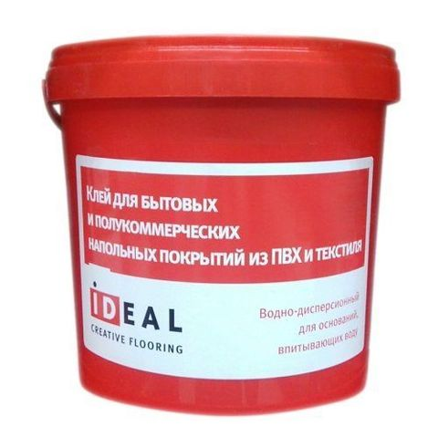 Клей Ideal для быт. и полукоммерч. напольных покрытий из пвх и текстиля 3л (4 кг)