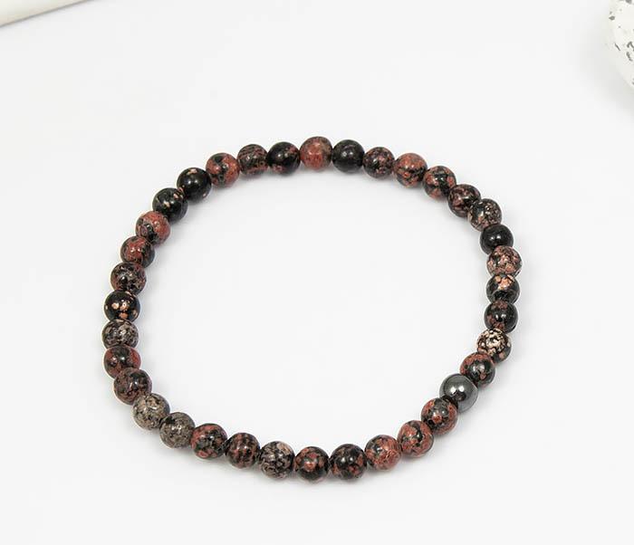 BS761 Мужской браслет из натурального камня яшмы, ручная работа фото 02