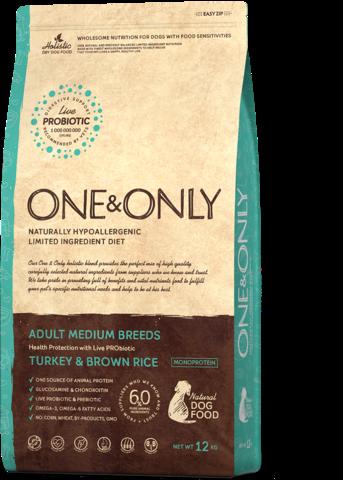 One&Only Adult Medium Breeds Turkey & Brown Rice