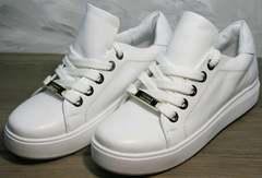 Кеды женские натуральная кожа Molly shoes 557 Whate
