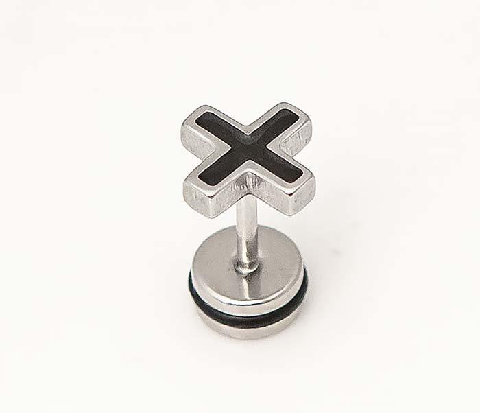 ER467-1 Мужские серьги кресты, винт