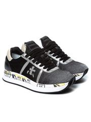 Комбинированные серые кроссовки Premiata Conny 4102 на шнуровке