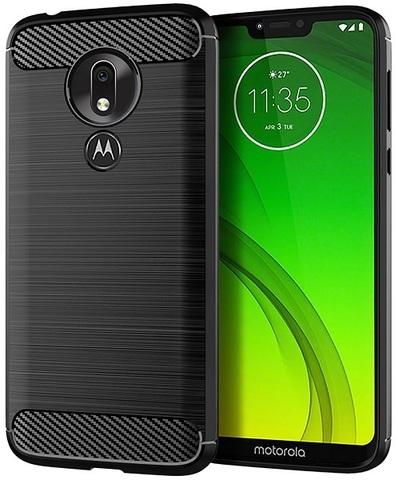 Чехол Motorola Moto G7 Power цвет Black (черный), серия Carbon, Caseport