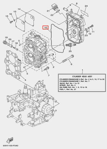 Прокладка клапанной крышки для лодочного мотора F20 Sea-PRO (4-10)